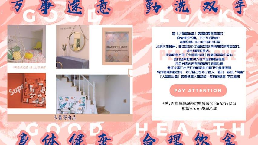 大蕾哥出品•Blackpink House/loft复式/高清投影/海洋球屋/宝龙万达(可短租)