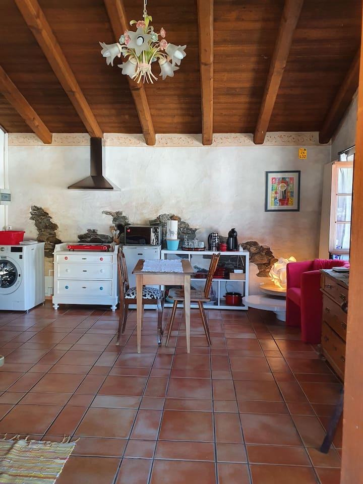 Studio in typischem Tessinerhaus in Quartino