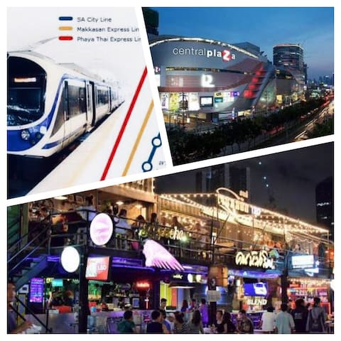 Ratchada Train market and MRT 5 mins by walking