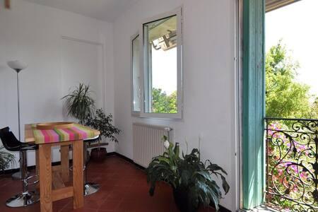 Grand studio ds maison écologiq +jardin 10mn plage - Bompas