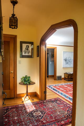 Entryway with large coat closet