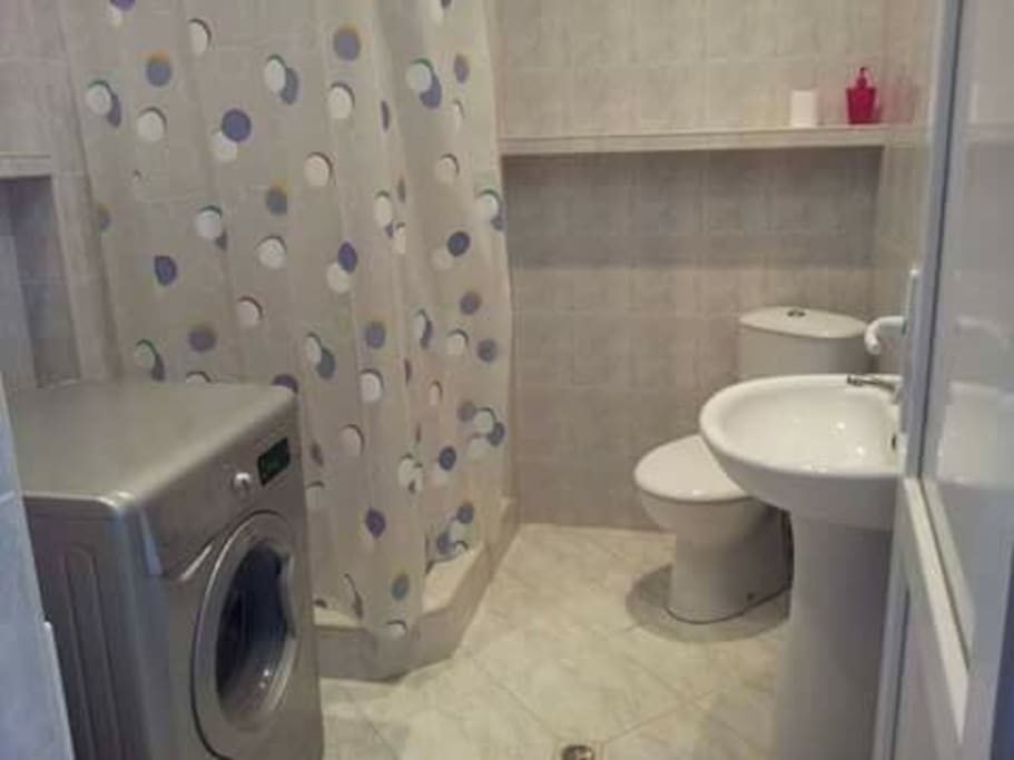 Your dedicated bathroom is down the hall and includes a washing machine.