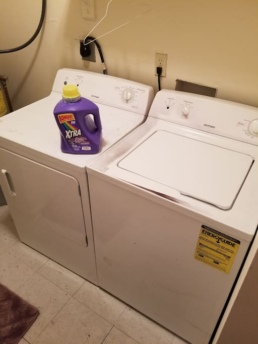Free laundry inside home