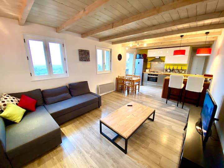 SOBNB- Cosy appartement avec vue exceptionnelle