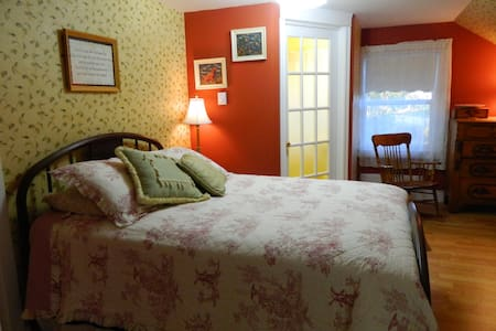 The Red Room double bed.