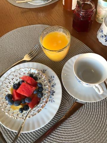 Ontbijt...