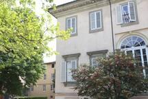 veduta casa dal giardino di Villa Bottini