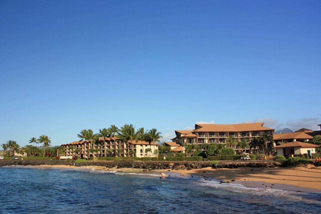 Water view of Resort