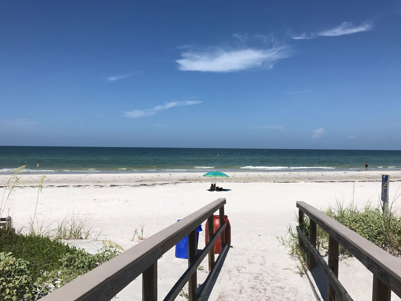 Beach access is a boardwalk