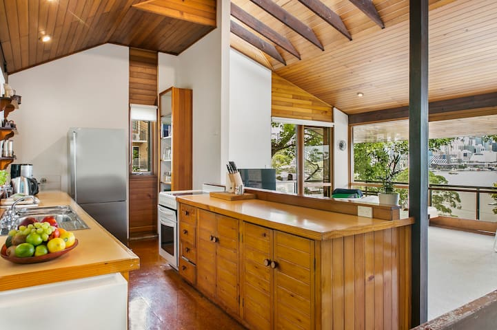 Open kitchen with spectacular views