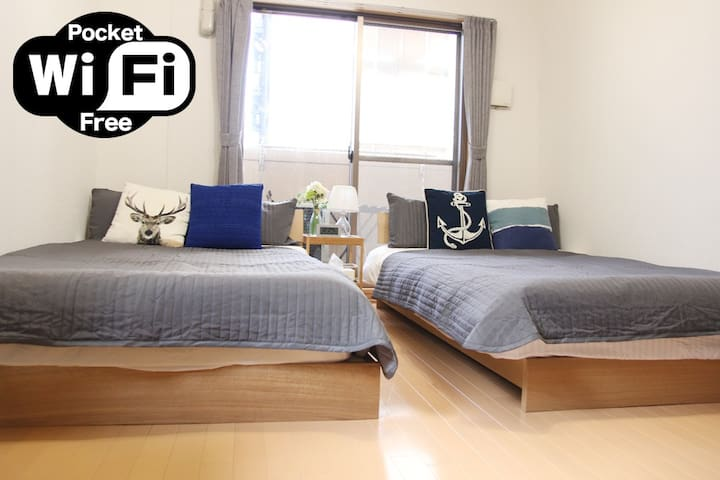 2MinSt☆Luxury Room☆Shinsaibashi Dotonbori 4Min cr2 - Ōsaka-shi - Apartment