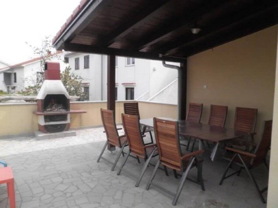Sitting area Barbecue Courtyard