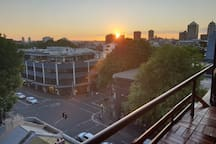 Sunset view from the balcony. Great for afternoon drinks