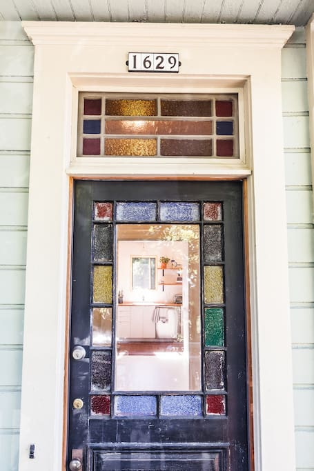 Here is the front door - waiting to welcome you!