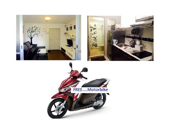 -Captain-Cook@Dcondo Creek Phuket + Free Motorbik - Kathu - Apartment