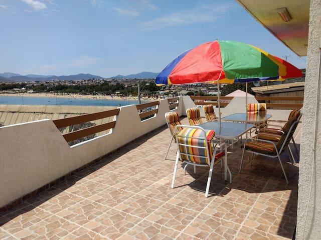 Casa 7 pers. guanaqueros hermosa vista al mar