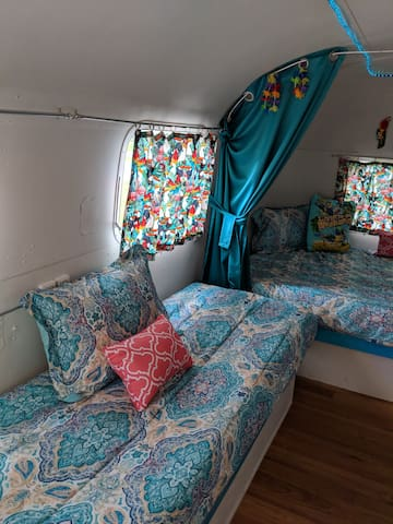 Twin bed on left side