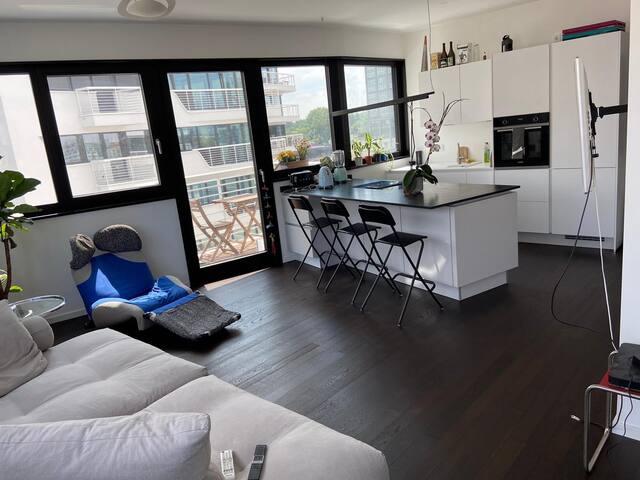 Luxus Apartment direkt am Wasser mit Dachterasse