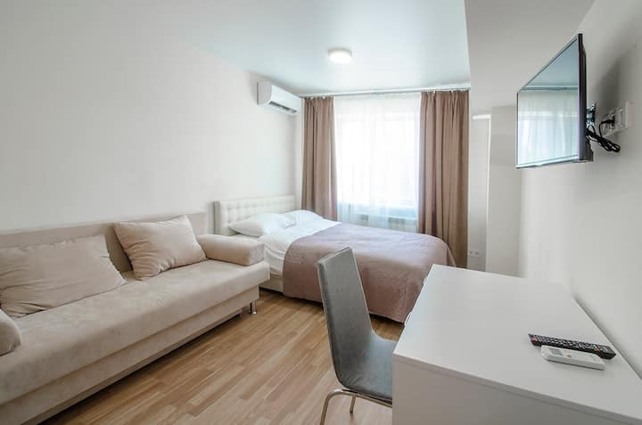 Studio-apartment in new house near metro station