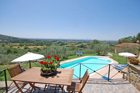 House in farmhouse with amazing views - Cortona