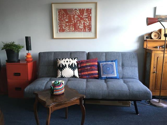 Art apartment, New Town, Hobart