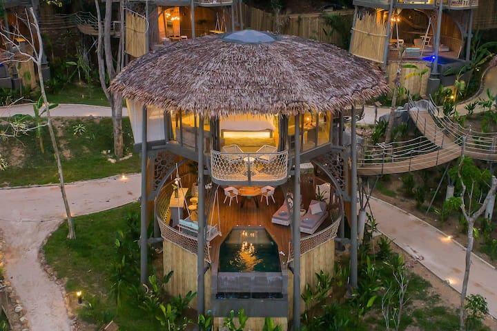 TreeHouse Villa+Free Pak Bia Trip+Yoga Class
