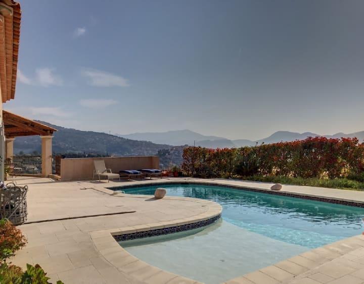 Villa new, superb view mountain pool wifi 6pax