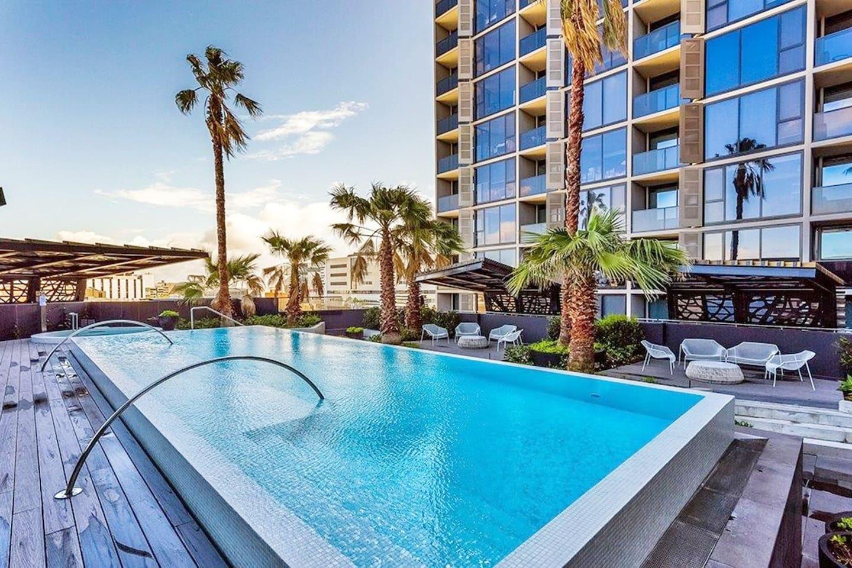 Stunning pool and spa area