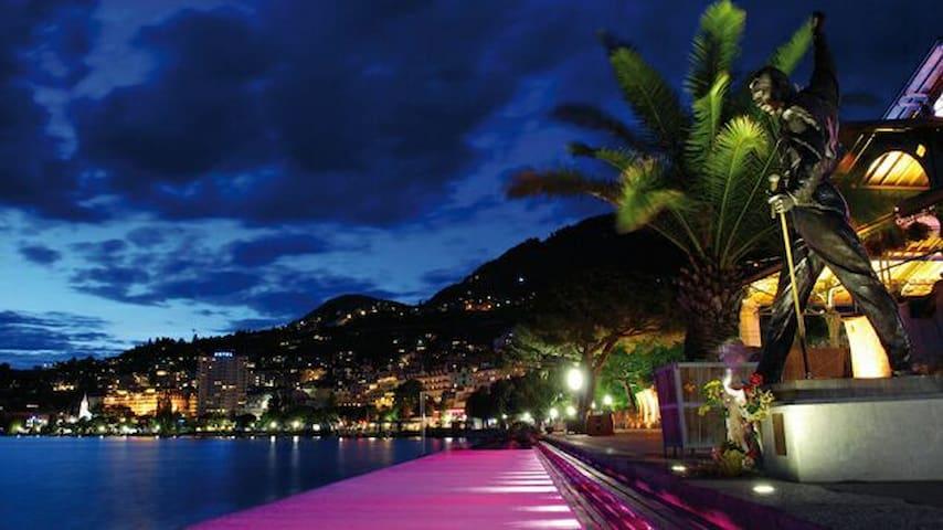 Montreux Vacances 3 min du lac/gare - Montreux, Vaud, CH - Pis