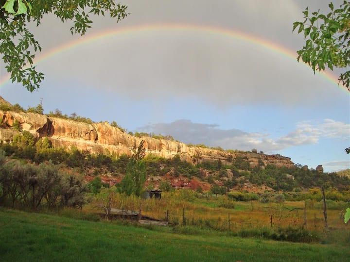 Organic farm, ATV trails, hiking, private canyon.