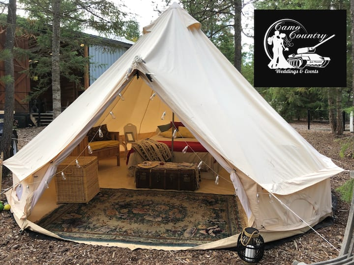 Outfitted Bell Tent at our place or yours!