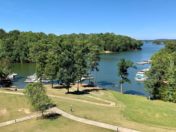 Lake Martin Top Floor Condo! Dedicated Boat Slip!