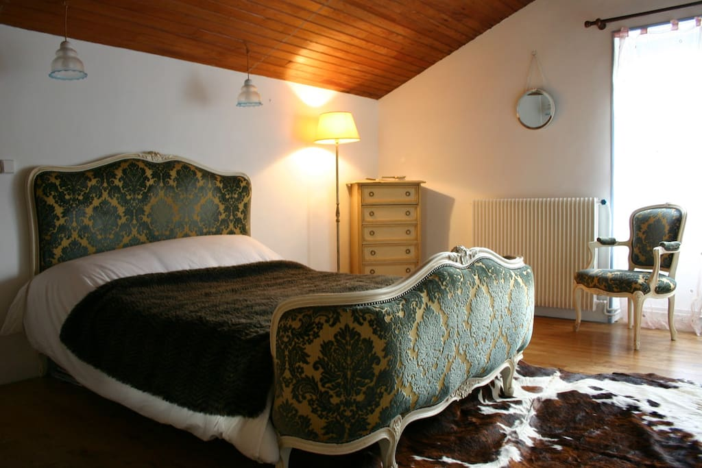 Upstairs French style double bedroom