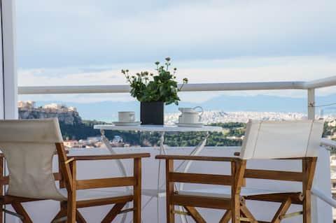 Acropolis view penthouse apartment