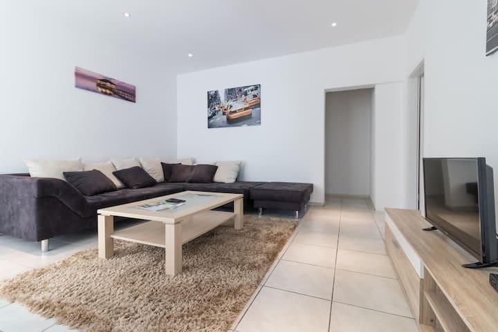 110m² Wohnung mit 4 Schlafräumen für 8 Personen