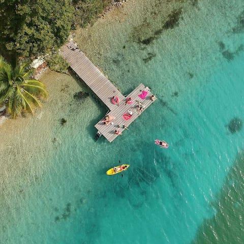 Muelle, Kayaks