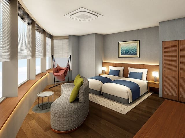 Sea to see/Sunset Suite 47㎡+Wi-Fi