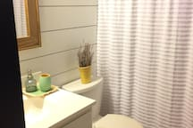 Private bathroom fitting your basic needs