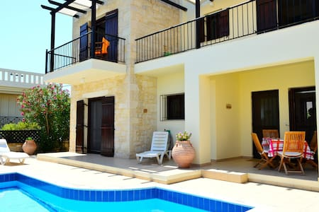 Stunning villa private pool,sea view,3bedrooms,bbq - Tavronitis - Villa