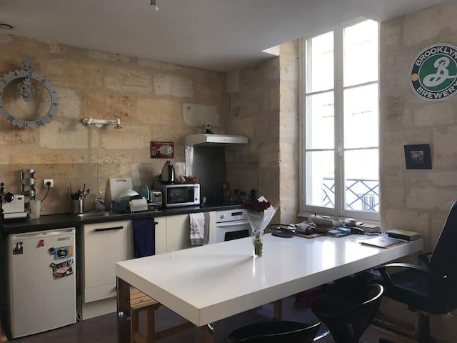 2-pièces cozy spacieux aux Chartrons - 波爾多 - 公寓