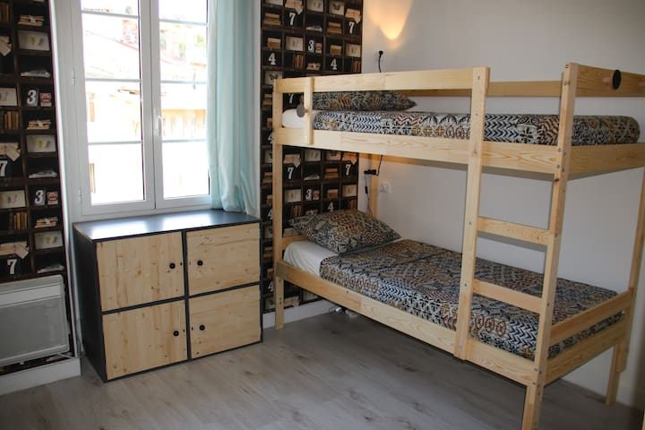 Lit dans dortoir mixte de 4 lits,Bed and Breakfast