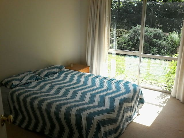 Queensized bed,large room, terrace