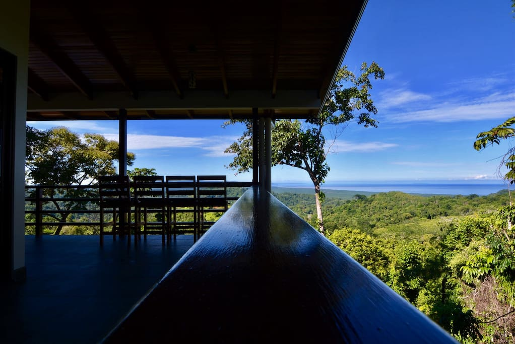 Terrace 2nd floor - overlooking the forest and the Pacific Ocean