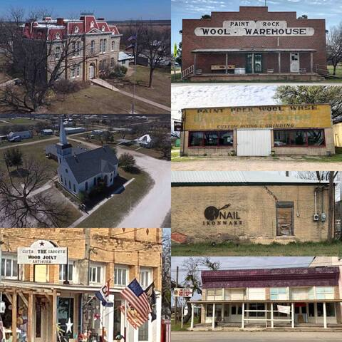 The town of Paint Rock is just 9 miles away and offers Antiques, artisan shops, and a convenience store that makes great hamburgers.