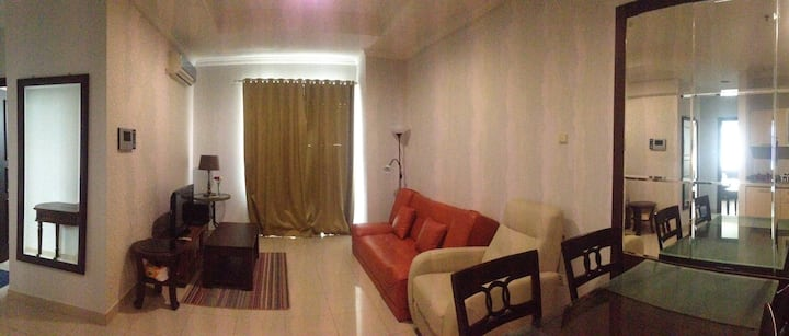 A cozy one bedroom apartment, in south Jakarta