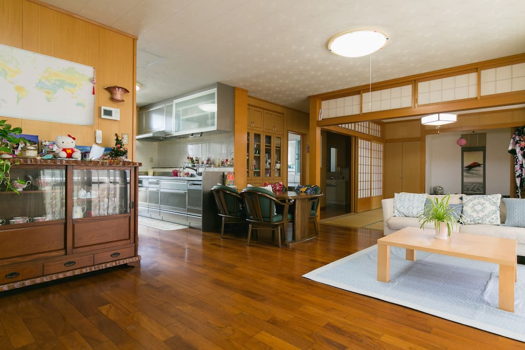 Living & Japanese-style room & kitchen