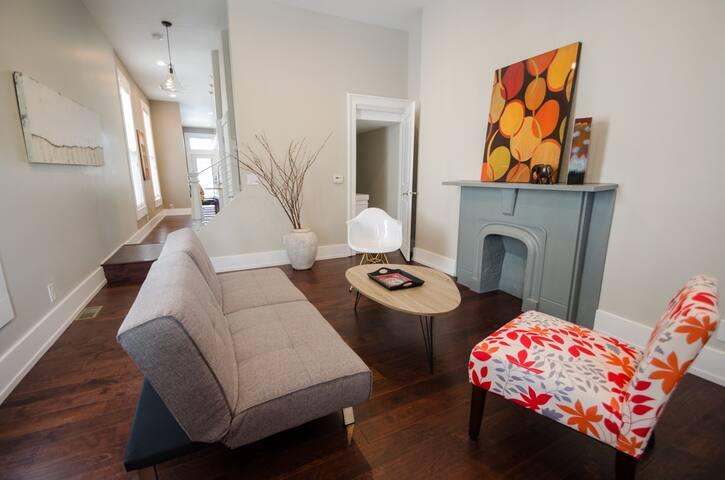 Living room - futon converts into sleeper