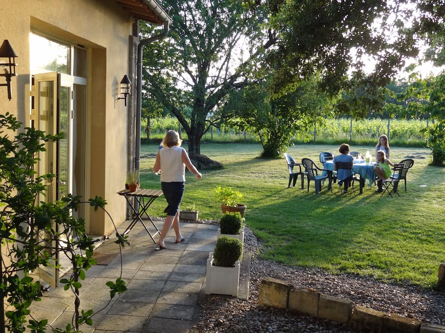 Evening supper in the garden