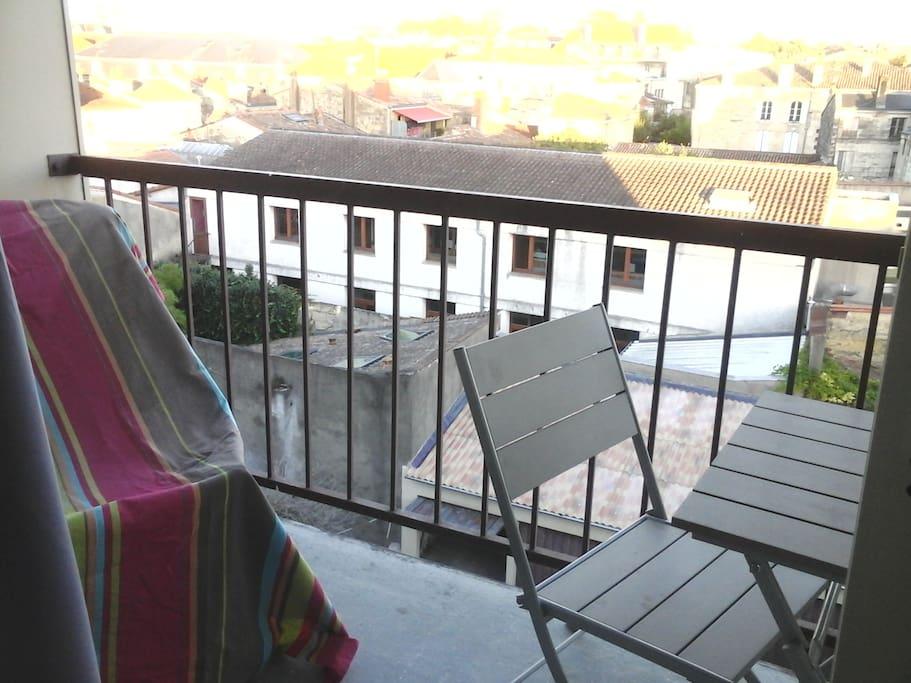 Balcon avec belle vue