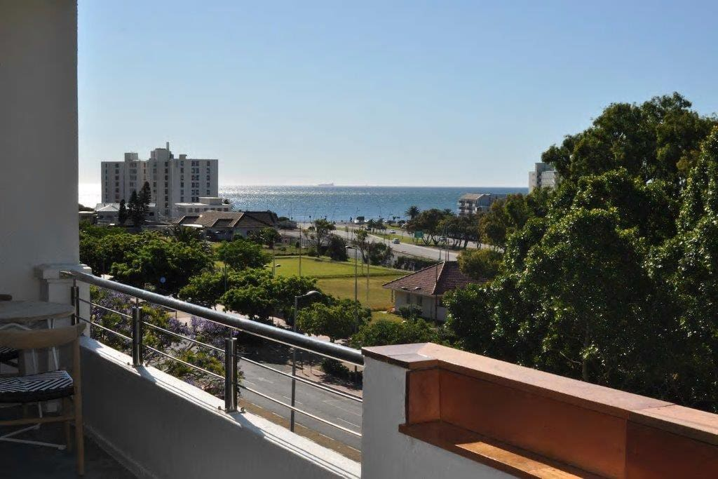 The view of the ocean from the large, private balcony.